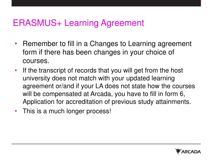 ERASMUS+ Learning