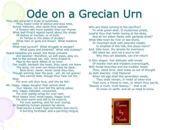 Ppt Odes On A Grecian Urn By John Keats Powerpoint