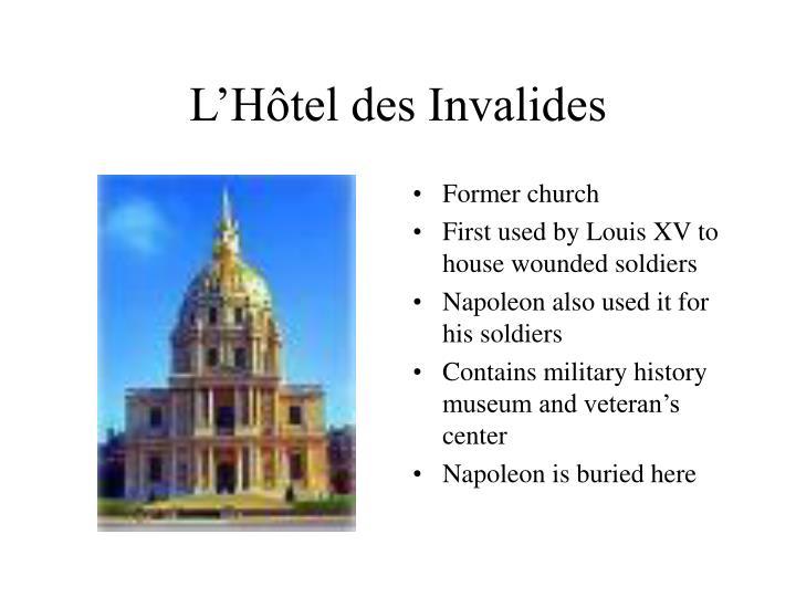 L'Hôtel des Invalides