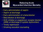 reducing acute myocardial infarction mortality