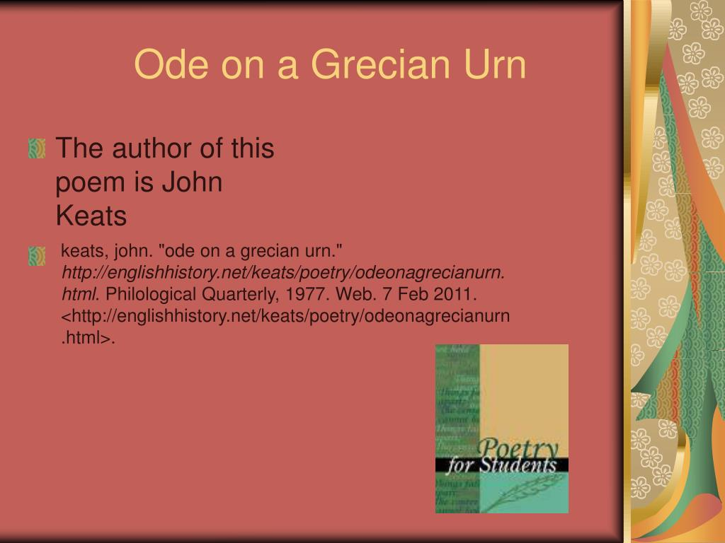 poetic devices in ode on a grecian urn
