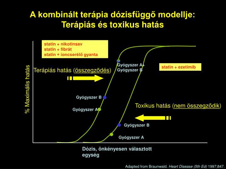 A kombinált terápia dózisfüggő modellje: