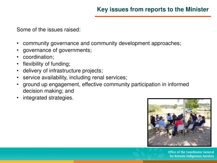 Some of the issues raised: