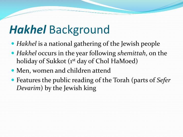 Hakhel background