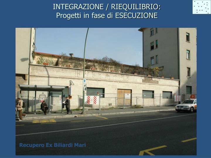 INTEGRAZIONE / RIEQUILIBRIO: