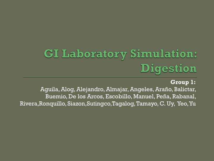 gi laboratory simulation digestion n.