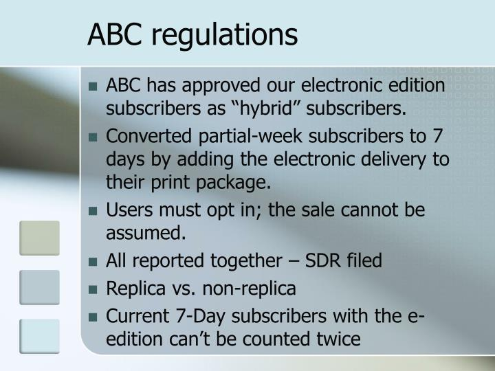 Abc regulations