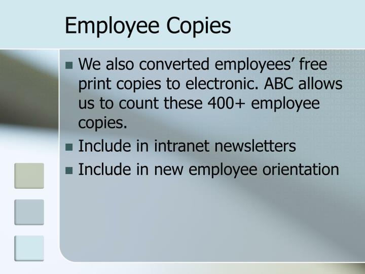 Employee Copies