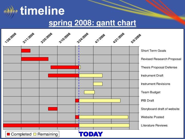 spring 2008: gantt chart