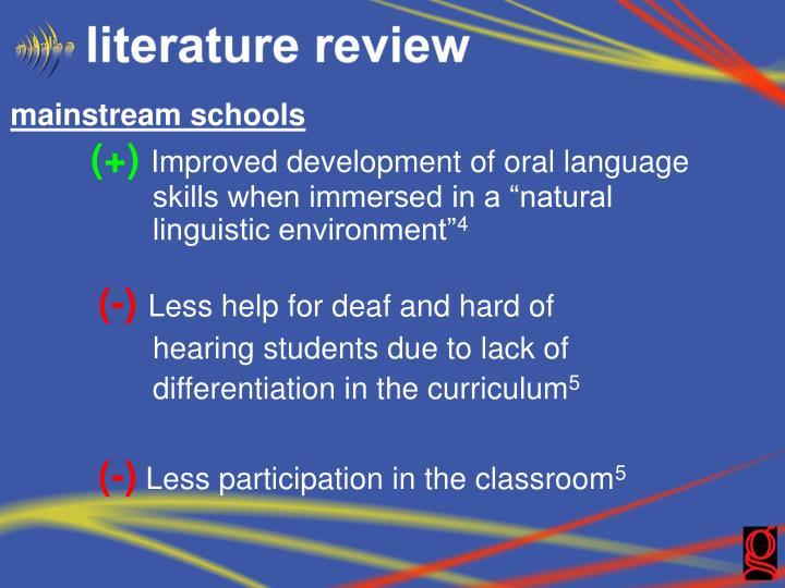 mainstream schools