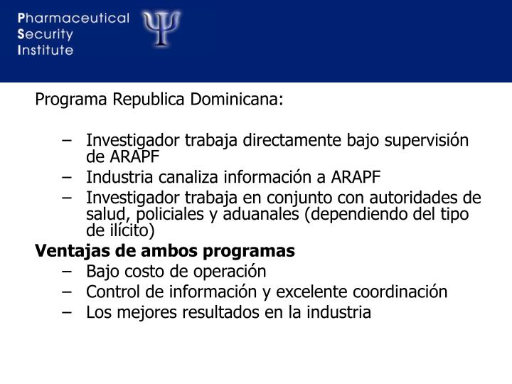 Programa Republica Dominicana: