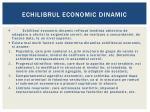echilibrul economic dinamic