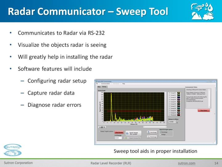 Radar Communicator – Sweep Tool