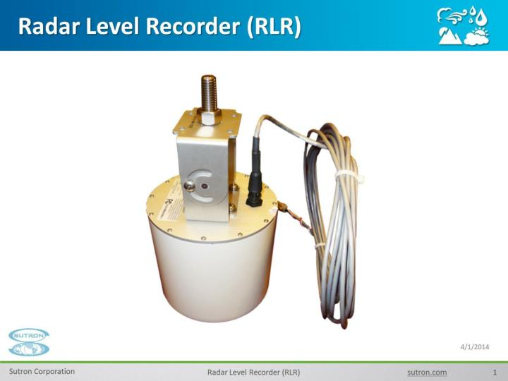 Radar level recorder rlr
