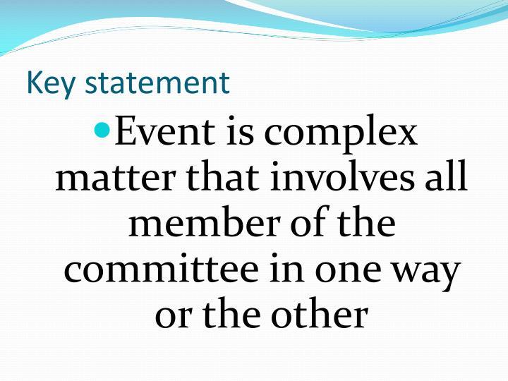 Key statement