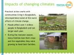 impacts of changing climates