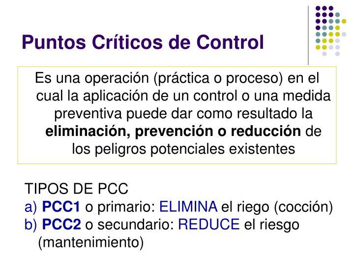 Puntos Críticos de Control