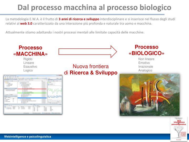 Dal processo macchina al processo biologico