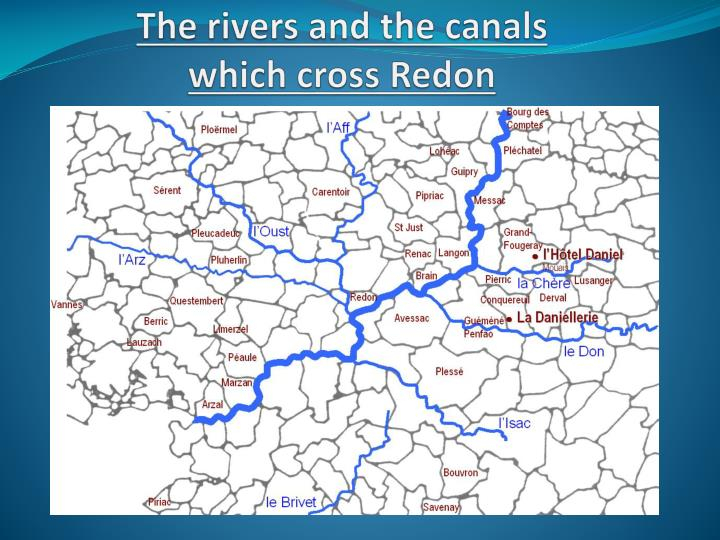 The rivers and the canals which cross redon