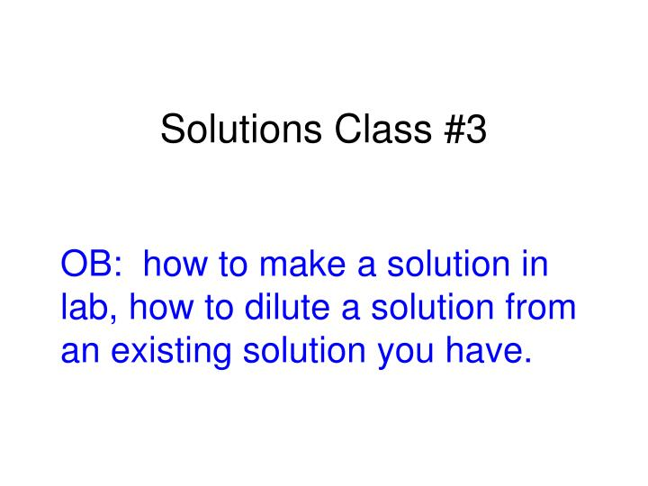 solutions class 3 n.