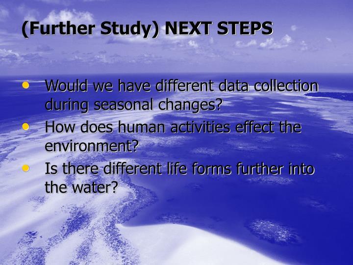 (Further Study) NEXT STEPS