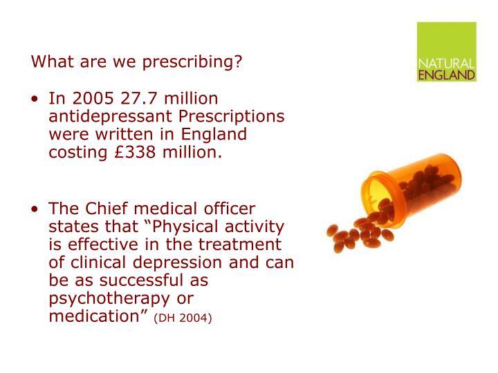 What are we prescribing?