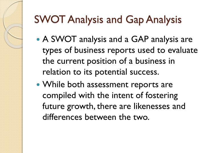 gap swot analysis 2011