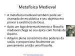 metaf sica medieval