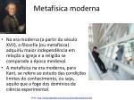 metaf sica moderna