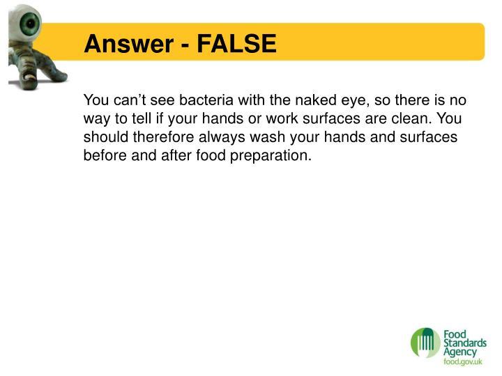 Answer - FALSE