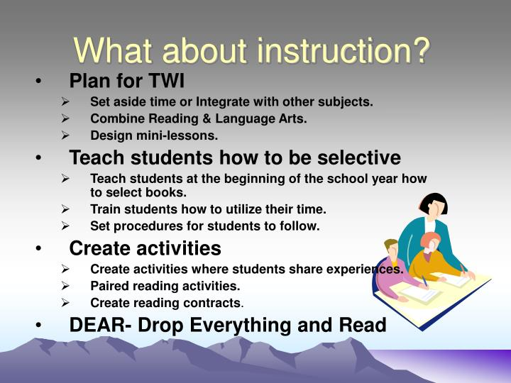 What about instruction?
