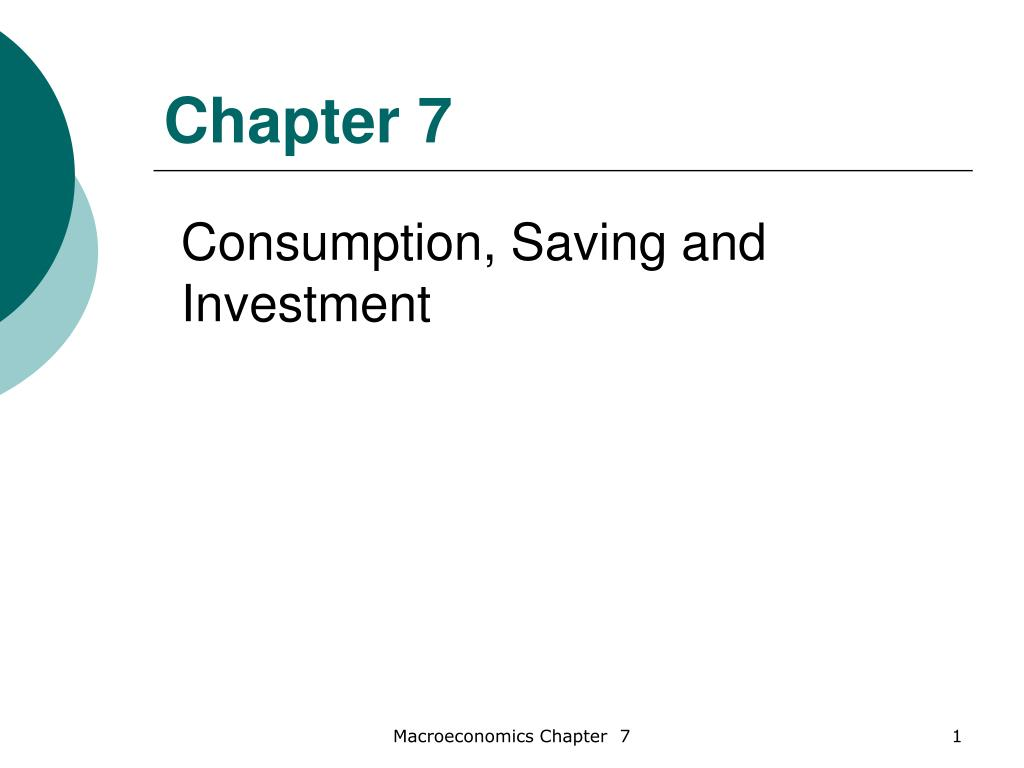 consumption savings and investment in macroeconomics