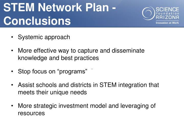 STEM Network Plan -Conclusions