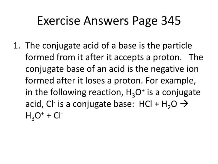 Exercise answers page 345