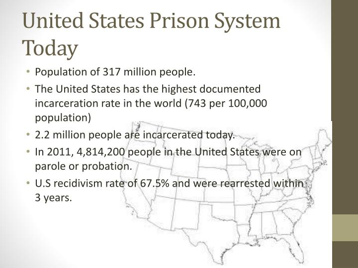 the status of the prison system in the united states United states incarceration rate is the length of the prison sentences in the united states one of the criticisms of the united states system is that it has much.