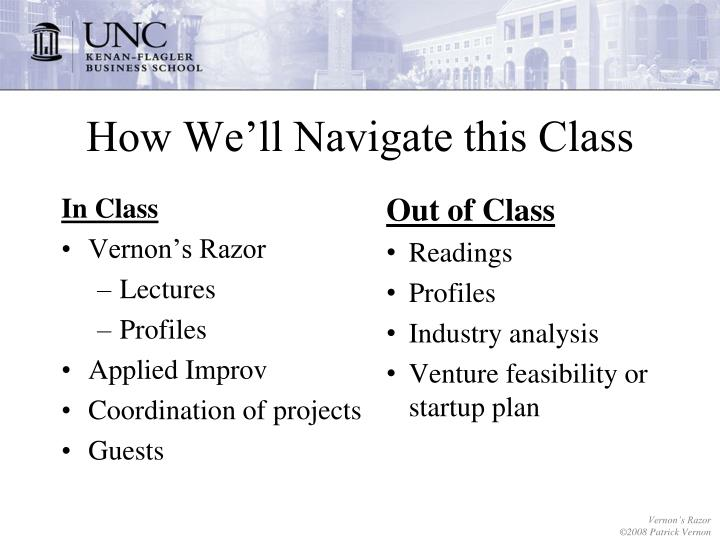 How we ll navigate this class