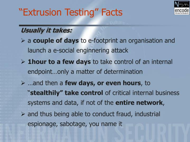 """Extrusion Testing"" Facts"