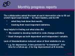 monthly progress reports