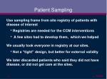 patient sampling