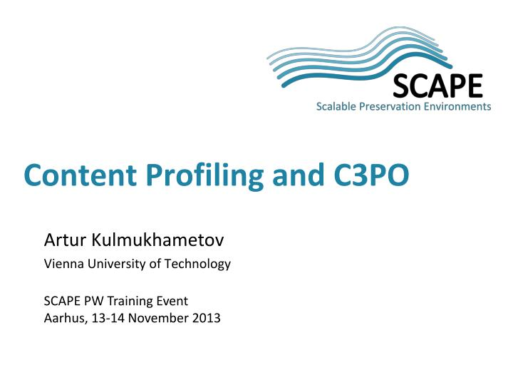 Content profiling and c3po