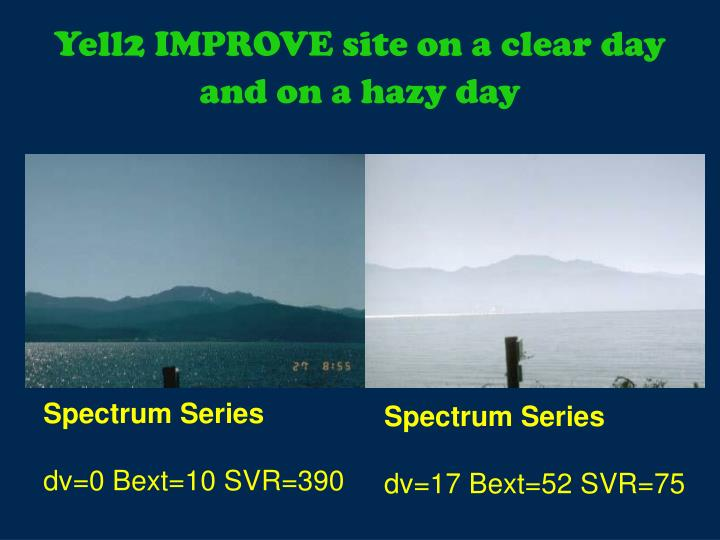 Yell2 IMPROVE site on a clear day and on a hazy day