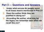 part 3 questions and answers