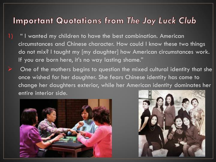the mother daughter relation in amy tans the joy luck club