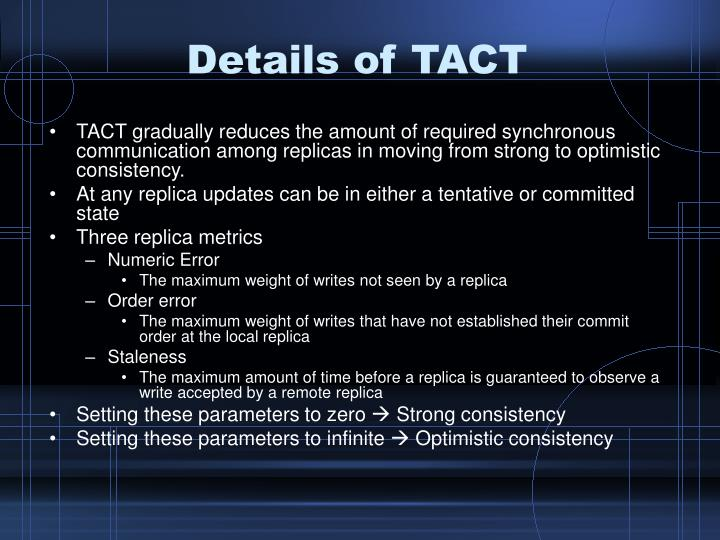 Details of TACT