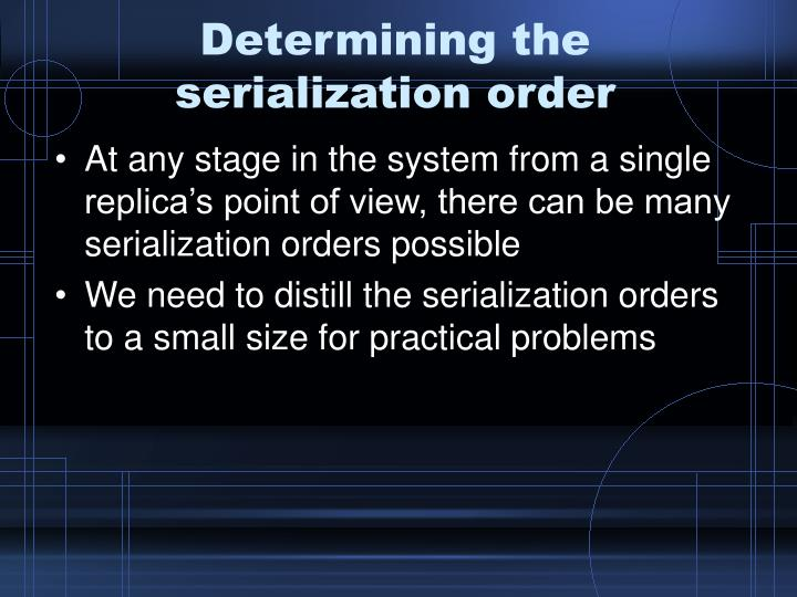 Determining the serialization order