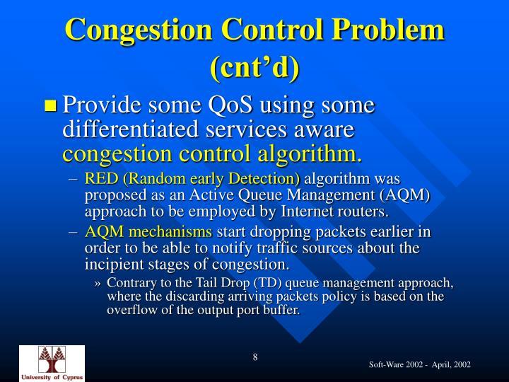 Congestion Control Problem (cnt'd)