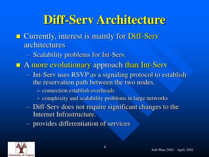 Diff-Serv Architecture