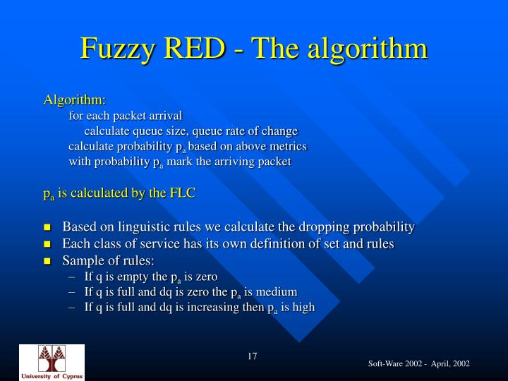 Fuzzy RED - The algorithm