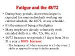 fatigue and the 48 722