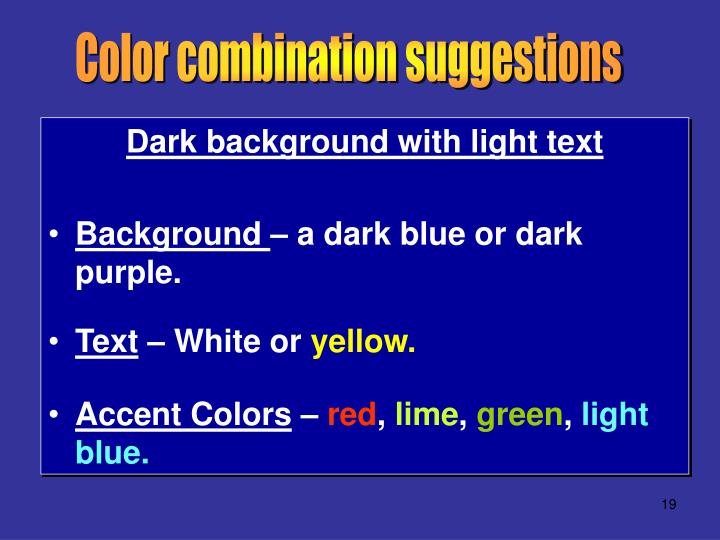 Color combination suggestions